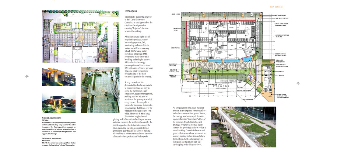 IT PARKS : Salt Lake City  <br> Article on Landscape Design in Landscape Magazine , No.21, Monsoon Edition, 2008