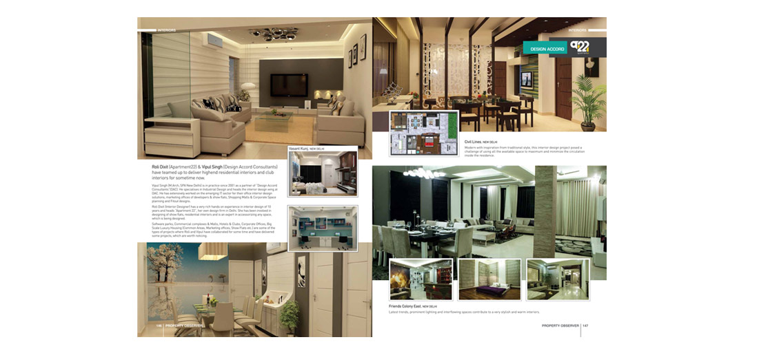 Design Accord Interiors Profile in Property Observer Mag