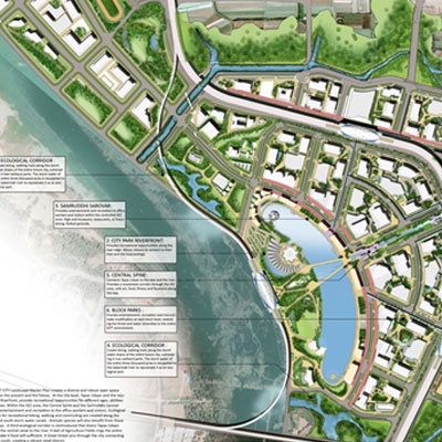 GIFT CITY - INVITED DESIGN  IDEA CONCEPT  FOR  LANDSCAPE  MASTER PLAN , Gujarat